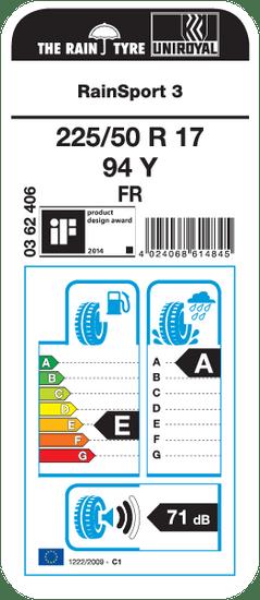Uniroyal autoguma Rainsport 3 225/50R17 94Y FR