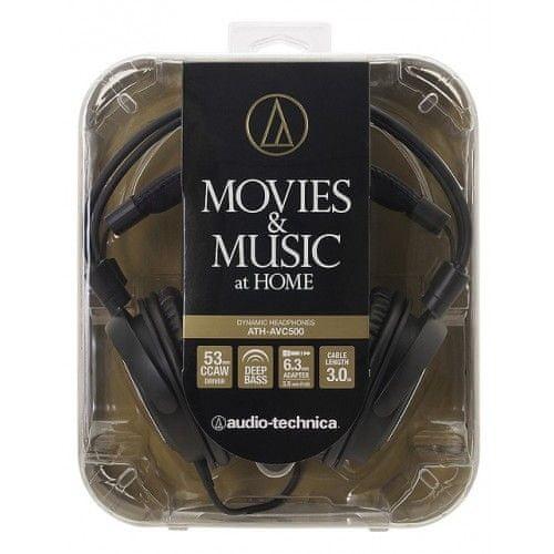 Audio-Technica ATH-AVC500 slušalke, črne