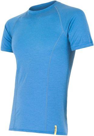 Sensor Merino Wool Active pánske tričko krátky rukáv, modrá M