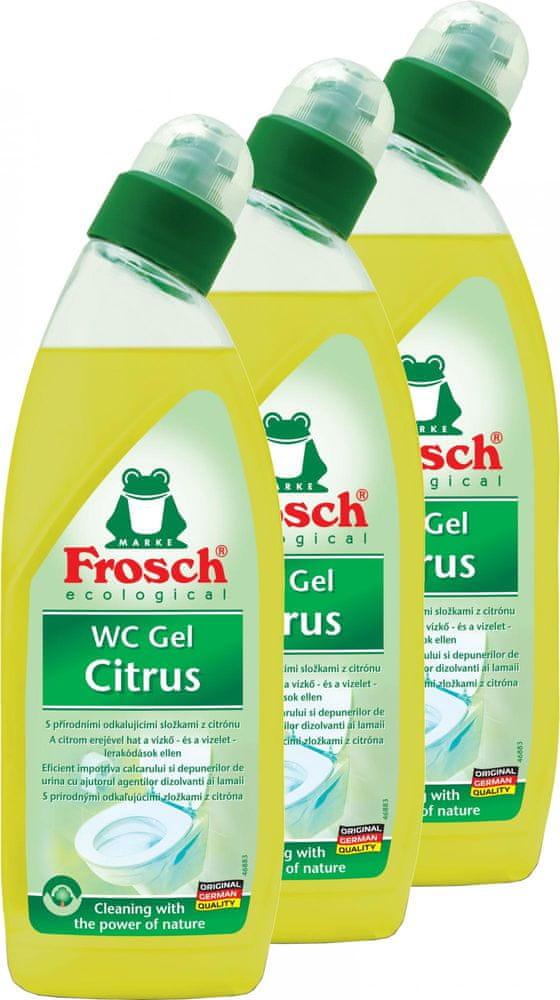 Frosch Eko WC gel citron 3x750 ml