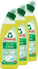 Frosch Eko WC gel citrus 3 x 750 ml