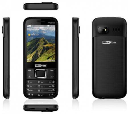 MaxCom GSM telefon MM238 3G, črn