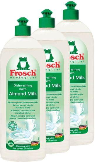 Frosch Eko čistilo za posodo z mandljevim mlekom 3 x 750 ml