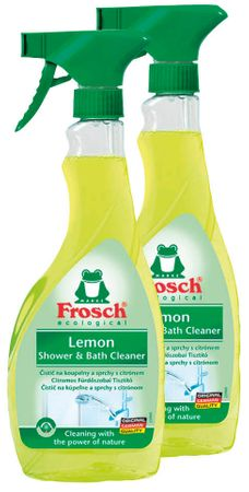 Frosch Eko čistilo za kopalnico in tuš limona  2 x 500 ml