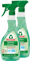 Frosch Eko Sprej Spiritus čistič skel 2x500 ml
