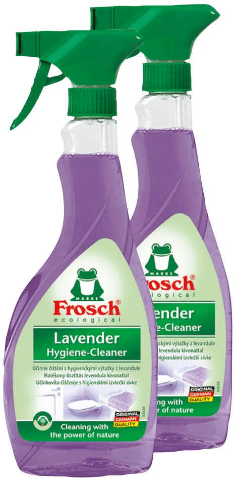Frosch Eko Sprej hygienický čistič levandule 2x500 ml