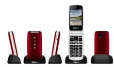 MaxCom telefon komórkowy MM823BB, czerwony