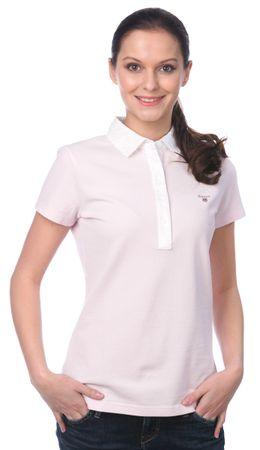 Gant női galléros póló L rózsaszín