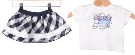 Primigi dekliška majica + krilo 74 bela