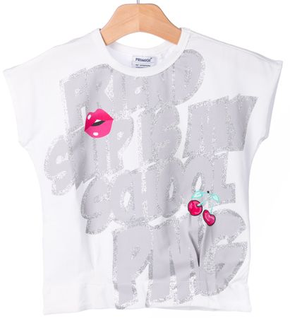 Primigi dekliška majica 122 bela