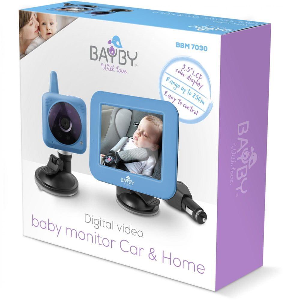 BAYBY BBM 7030 Digitální video chůvička do auta i do domácnosti - použité