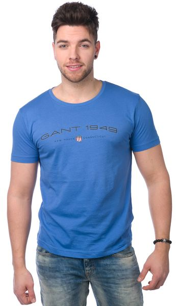 Gant pánské tričko M modrá