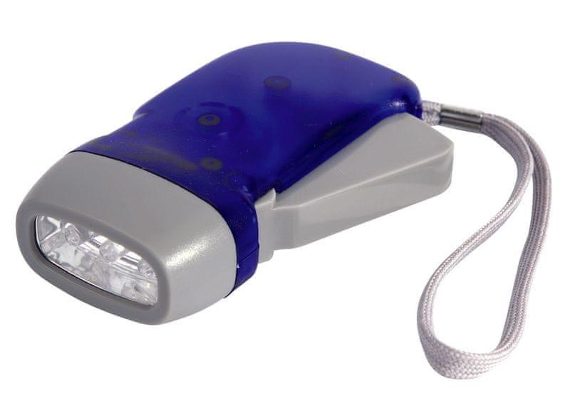 Camp Gear ruční nabíjecí svítilna s dynamem