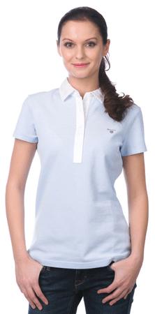 Gant női galléros póló M kék