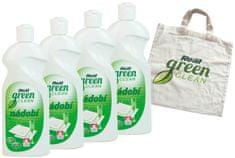 Real Green Clean Nádobí 4x500 g + taška zdarma