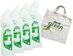 Real Green Clean Toalety 4x750 g + taška zdarma