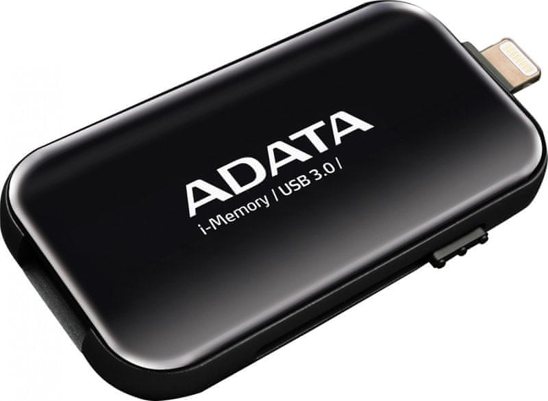 Adata UE710 64GB USB 3.0 i-memory pro Apple (AUE710-64G-CBK) Black