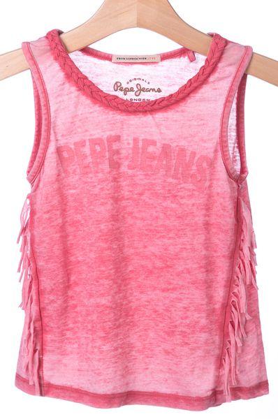 Pepe Jeans dívčí tílko Rena 104 růžová