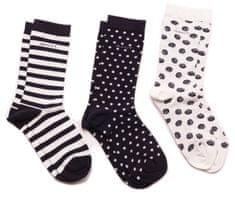 Gant 3 Pack tmavě modrých dámských ponožek