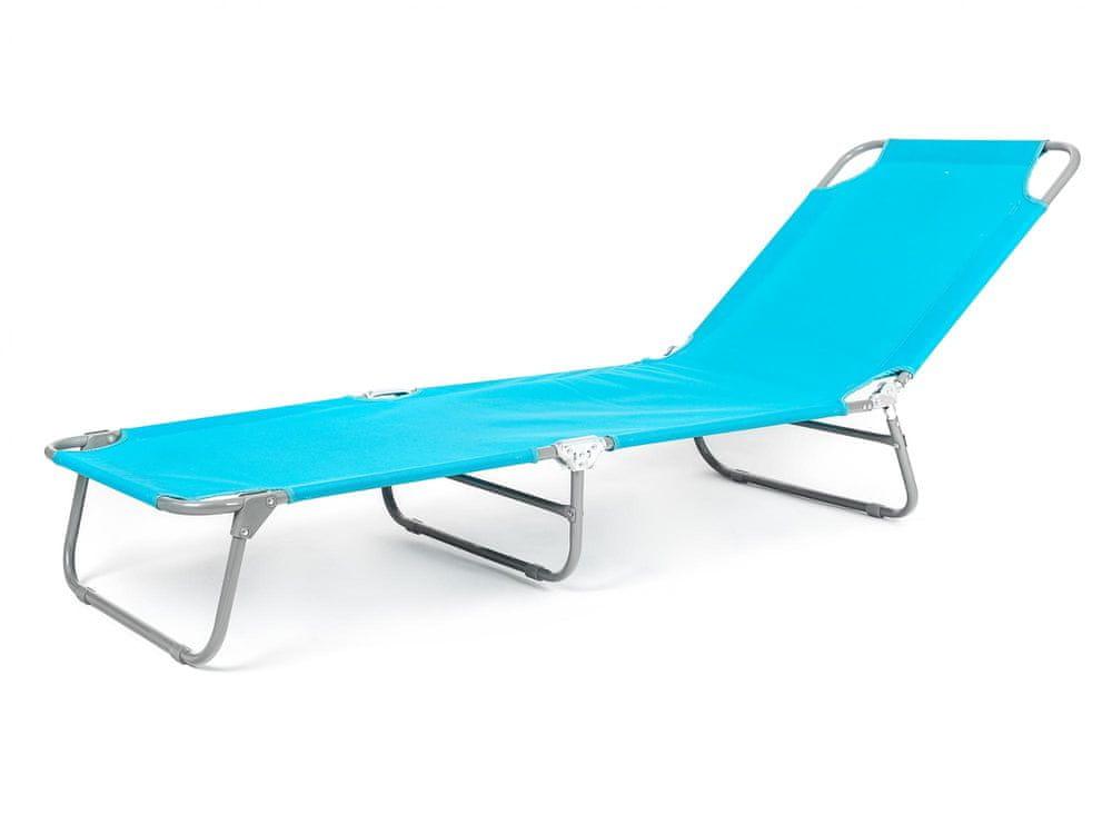 Happy Green Plážové ležadlo SUNBAY svetlo modrá