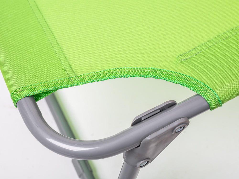 Happy Green Plážové lehátko SUNBAY světle zelená