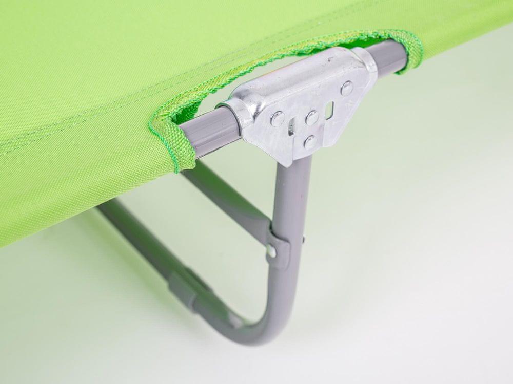 Happy Green Plážové lehátko SUNBAY světle zelená - použité