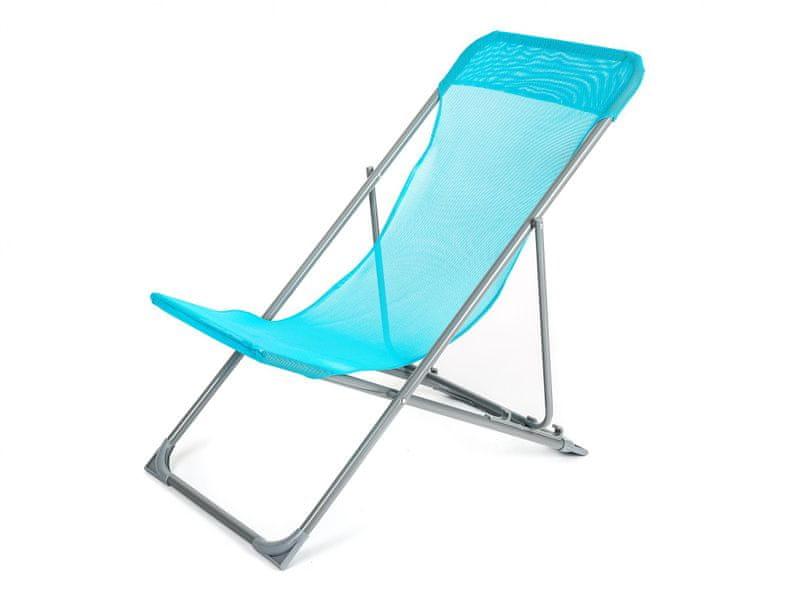 Happy Green Plážové křesílko CARIBIC modrá