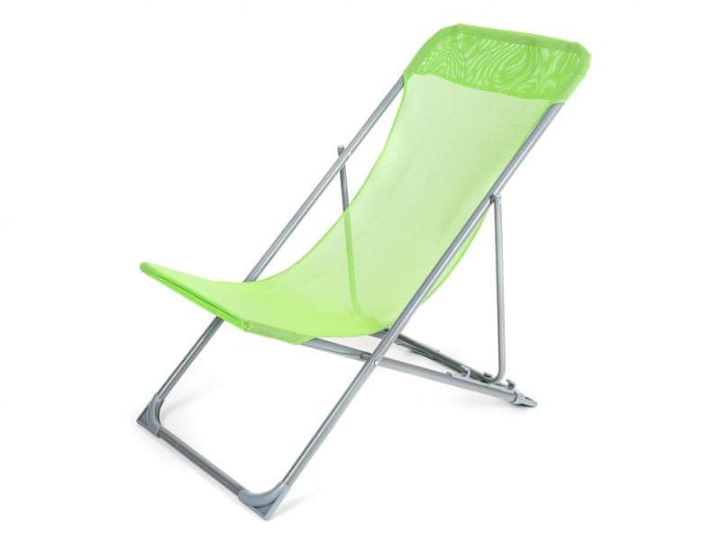Happy Green Plážové křesílko CARIBIC zelená