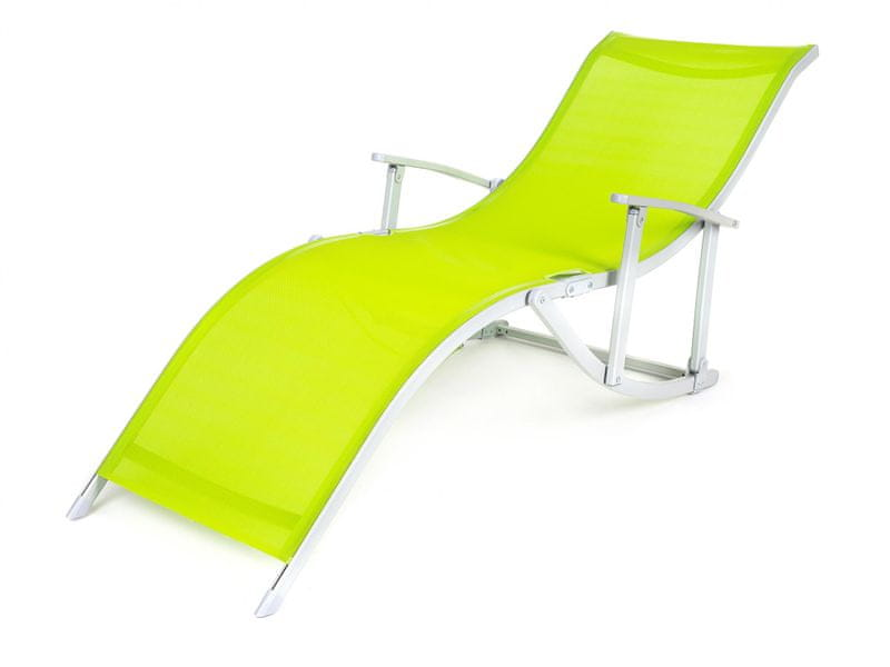 Happy Green Plážové lehátko CANARIA zelená
