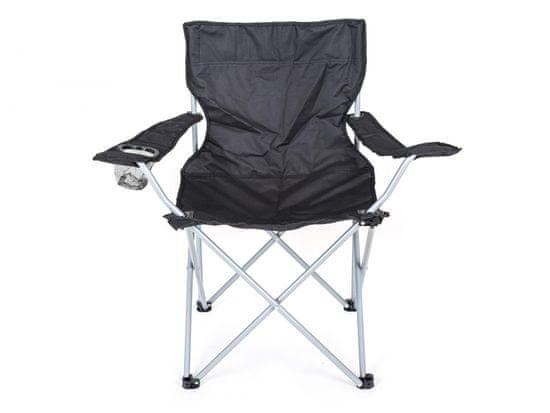 Happy Green složiva stolica za ribolov, crna