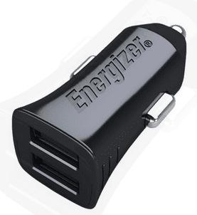 Energizer avtopolnilec hightech 2,4A - 2xUSB - Črn