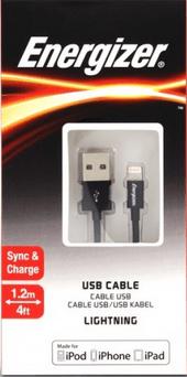 Energizer kabel classic Lightning 1,2 m - črn