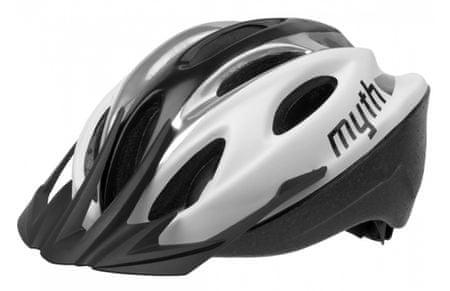 Polisport kolesarska čelada Myth bela/siva M