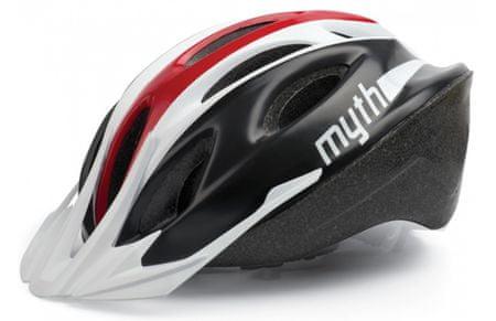 Polisport kolesarska čelada Myth črna/rdeča M