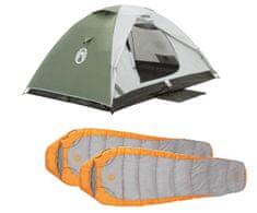 Coleman Zestaw namiot Crestline 2+ 2 śpiwory Telluride 100