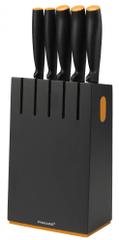 Fiskars Zestaw 5 noży w bloku czarny 1014190