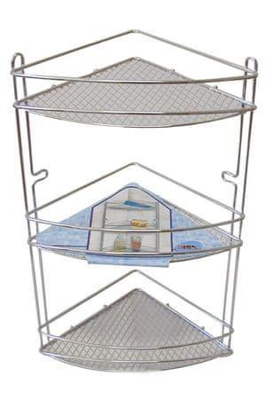 M.A.T Group kotna polička, 3 nadstropja, 20,5 cm