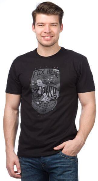 FOX pánské tričko Transparent Ss S černá