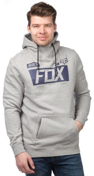 FOX pánská mikina Union Pullover S šedá