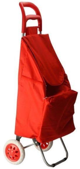 Maxwell & Williams Nákupní košík na kolečkách červená
