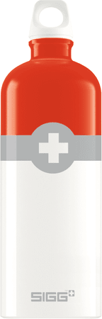 Sigg butelka Swiss Logo Red 1L