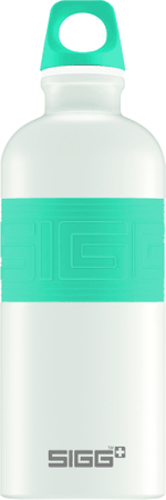 Sigg butelka CYD Pure White Touch Blue 0,6L
