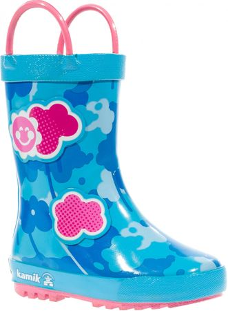KAMIK otroški dežni škornji, svetlo modri, 34