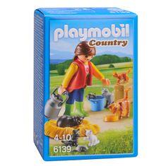 Playmobil dekle z mačjo družino 6139