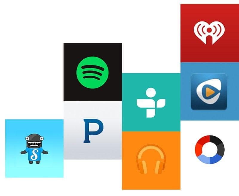 Chromecast audio služby