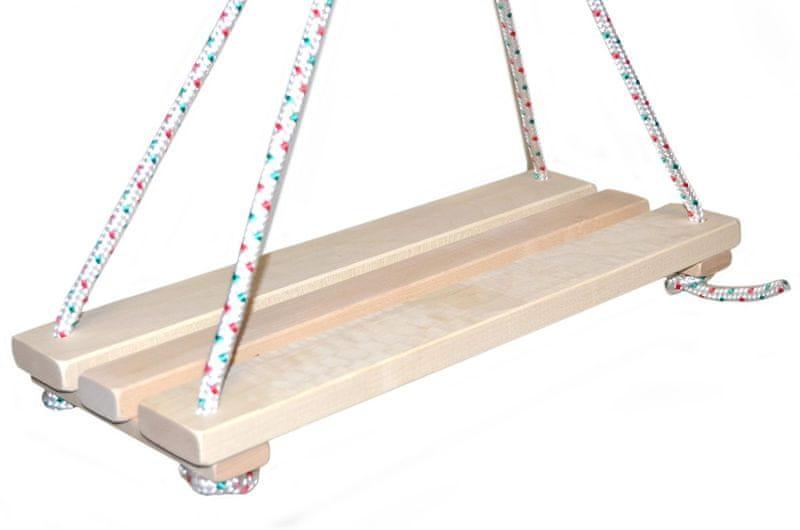 Teddies Houpací prkénko dřevo 46x19cm