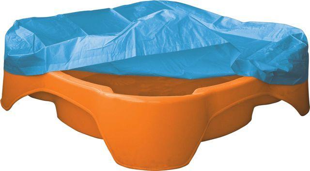 PalPlay Pískoviště-bazének čtverec s krytím oranžové
