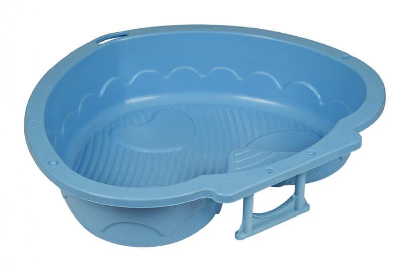 Marian Plast Pískoviště-bazének srdce modrá