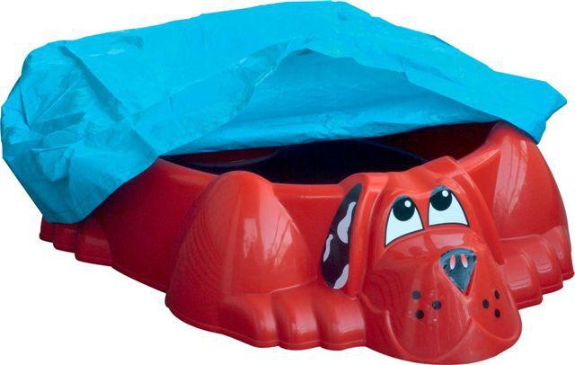 Marian Plast Pískoviště-bazének PES s plachtou, červená