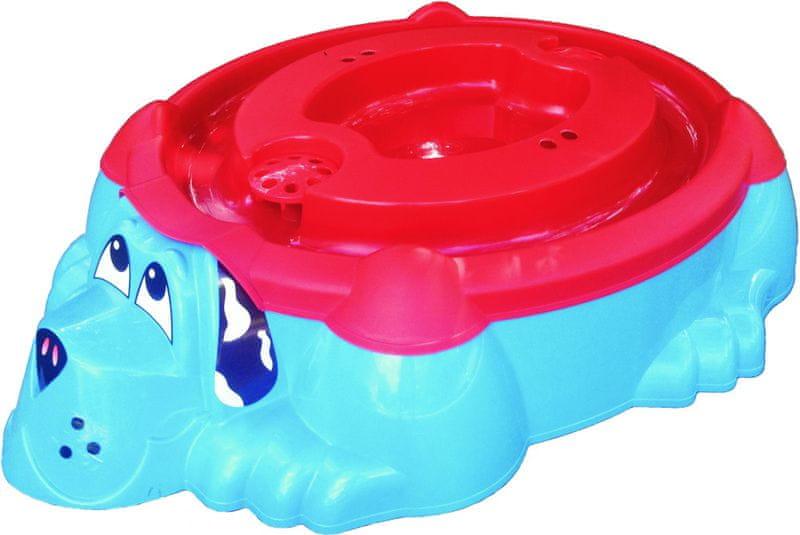 Marian Plast Pískoviště-bazének Pes s krytem, modré/červené